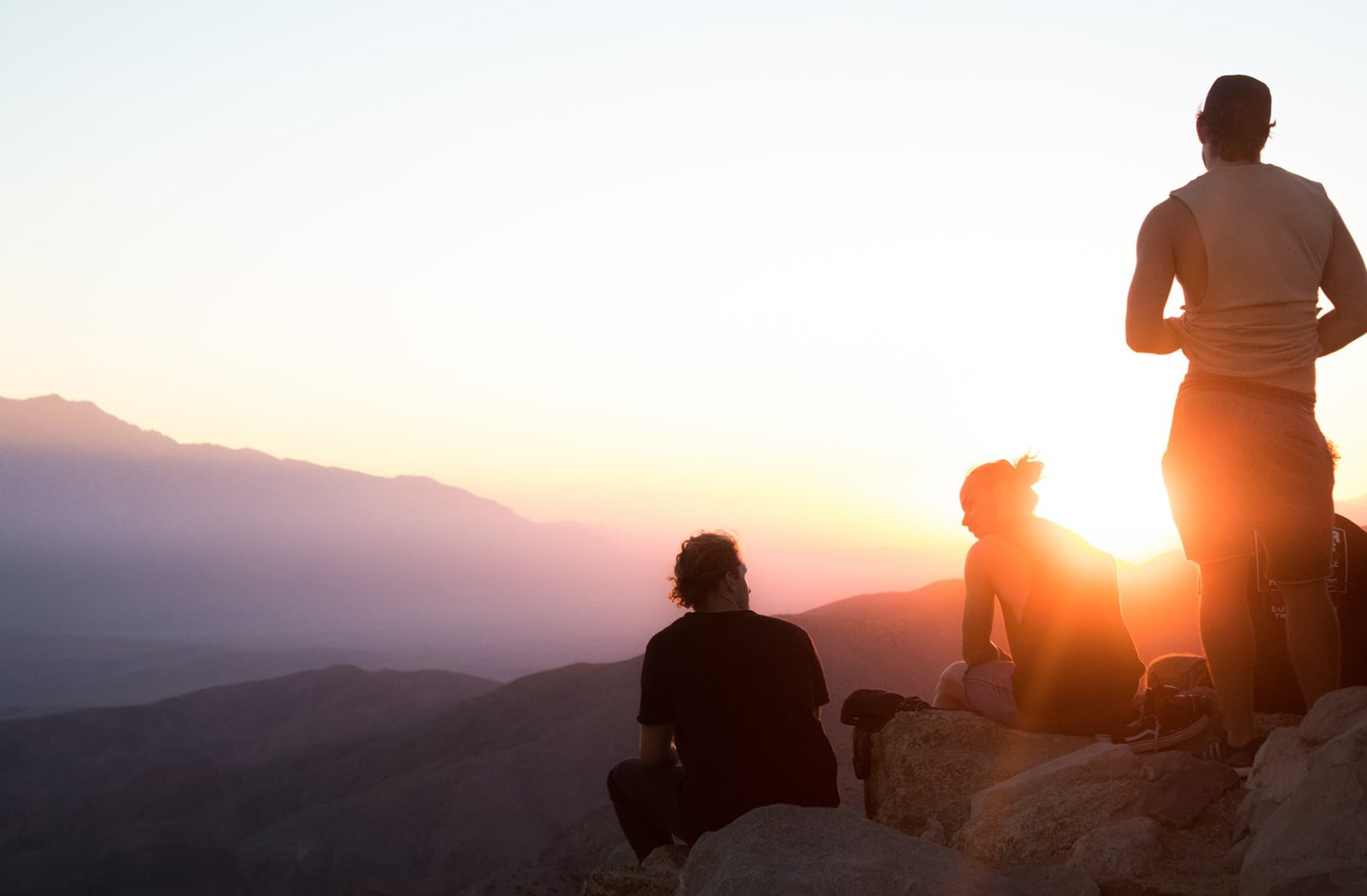 Friends on top of mountain