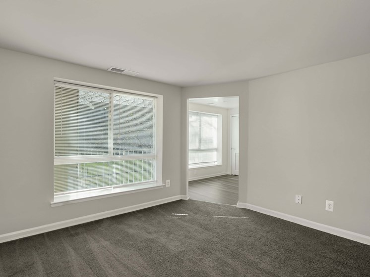 Open room with large window