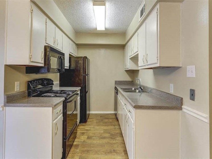 Kitchen with Electronic Appliances