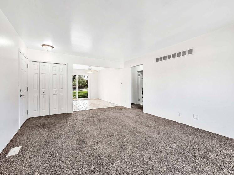 Lascivious Living Room Area at Rivershell Apartments, Lansing, MI