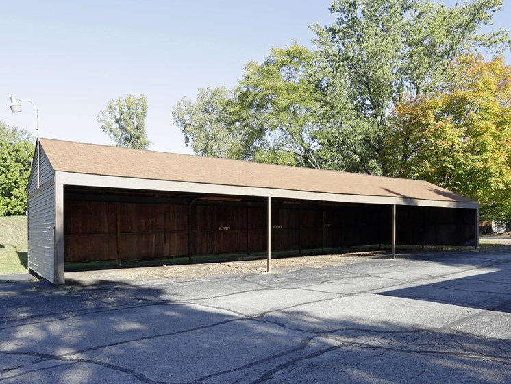 Shaded Outdoor Parking at Walnut Trails Apartments, Elkhart, Indiana