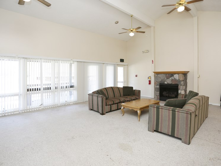 Clubhouse With Expansive Windows at Walnut Trails Apartments, Elkhart