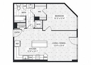 Alder Floor Plan at The Sur, Virginia, 22202