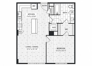 California Floor Plan at The Sur, Arlington