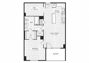 Chestnut Floor Plan at The Sur, Arlington, VA