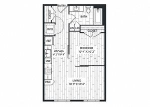 Fir Floor Plan at The Sur, Arlington, 22202