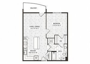 Gowen Floor Plan at The Sur, Arlington
