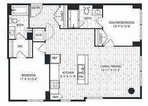 Gray-Pine Floor Plan at The Sur, Arlington, Virginia