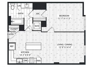 Jeffrey Floor Plan at The Sur, Virginia, 22202
