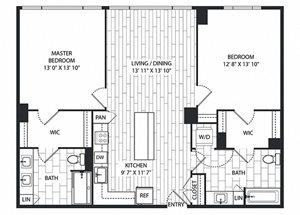 Knobcone Floor Plan at The Sur, Arlington, 22202