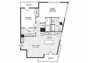 Monterey Floor Plan at The Sur, Virginia, 22202