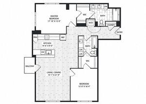 Sycamore Floor Plan at The Sur, Arlington, VA, 22202
