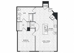 Toyon Floor Plan at The Sur, Arlington, Virginia