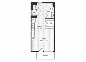 Willow Floor Plan at The Sur, Arlington, Virginia