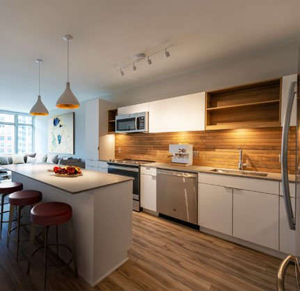 sur-white-finish-kitchen at The Sur, Arlington, 22202