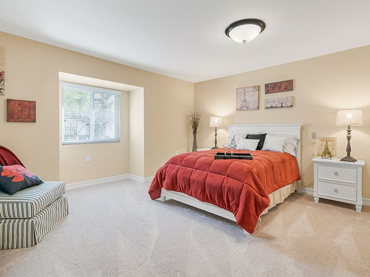 Beautiful Bright Bedroom With Wide Windows at Westmont Village, California