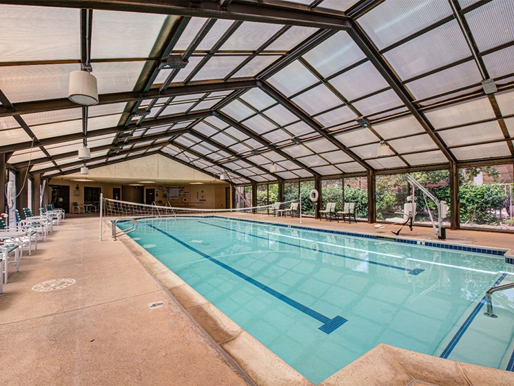 Indoor Pool With Volleyball at Westmont Village, California