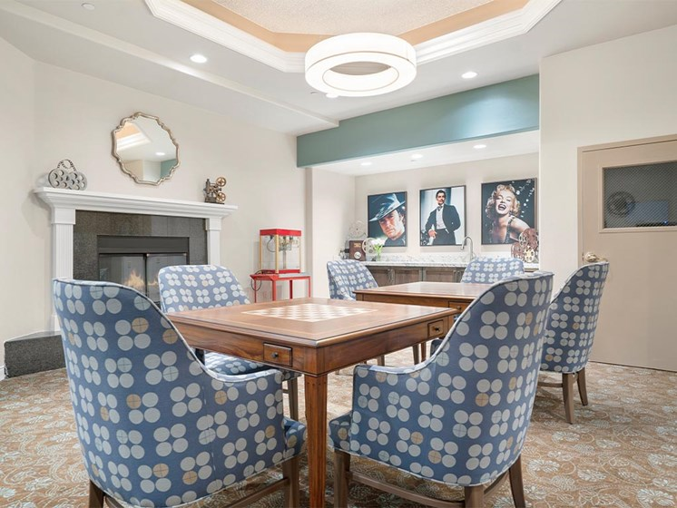 Dining space at Westmont Village, California, 92518