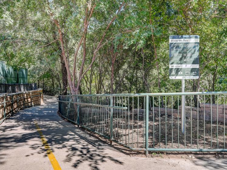 Walking and Biking trails leading to Lady Bird Lake
