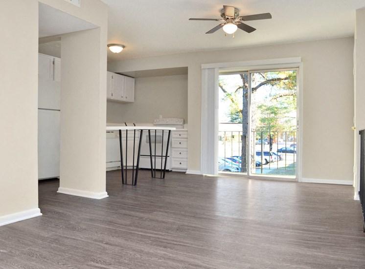 open kitchen and living room floor plan