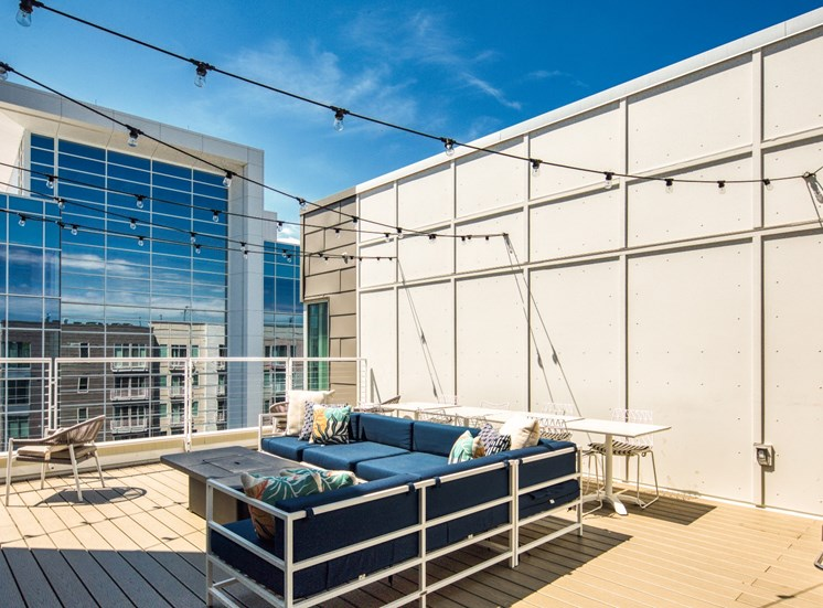 Rooftop patio at Helix Apartments in Chesapeake Va