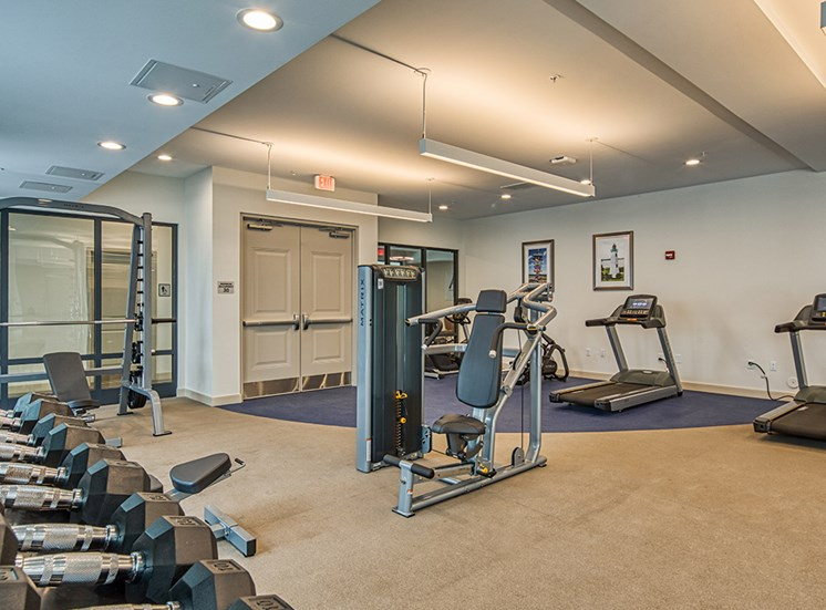 24/7 fitness and wellness center at Axis at PTC