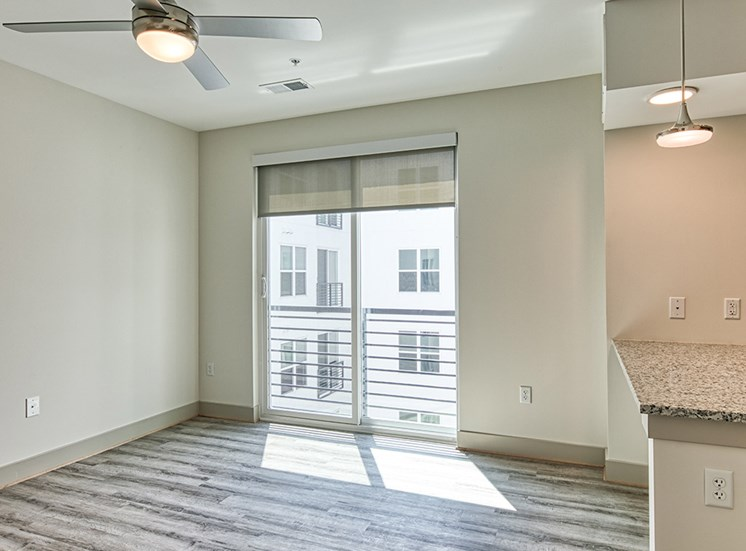 Living area in a 1 bedroom apartment at Axis at PTC