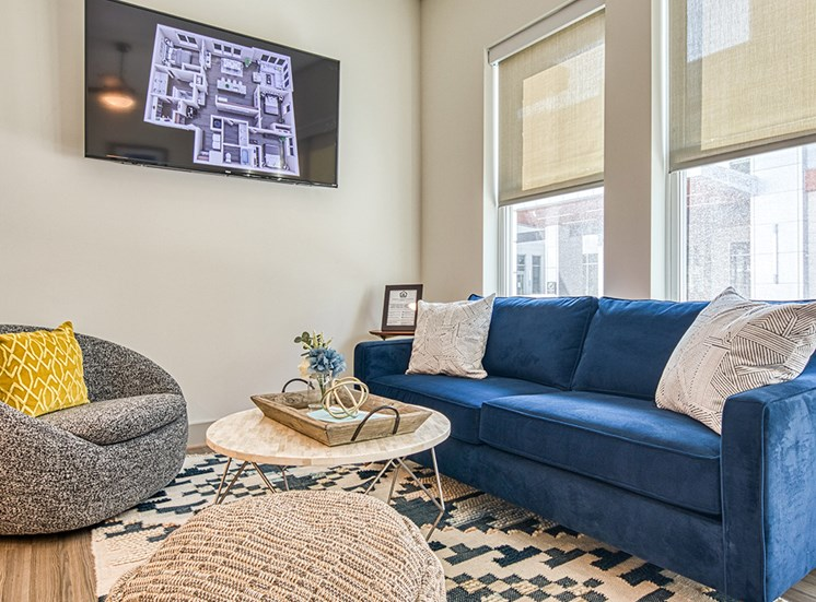 Living area in apartment at Axis at PTC