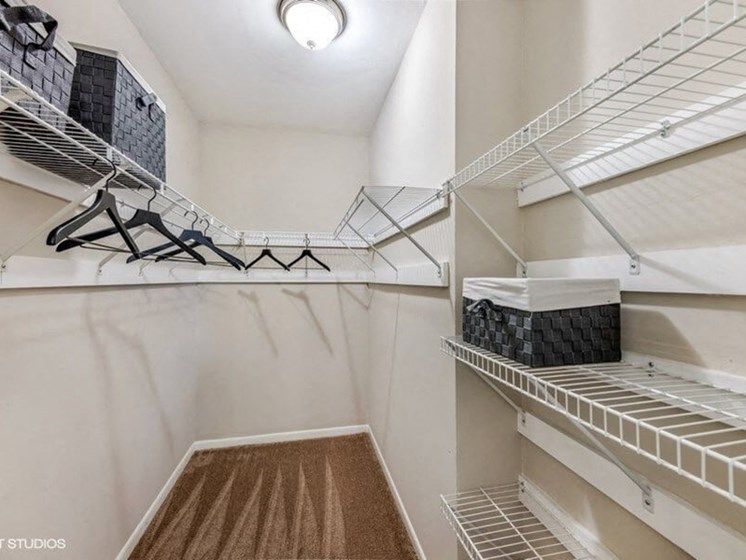 Built-In Shelving In Closet at Brookland Ridge Apartments, Washington, 20017