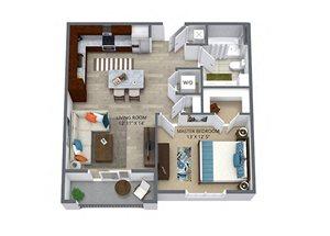 Westwood Green 1 bed 1 bath 670 sqft