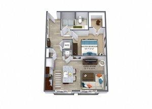 Westwood Green 1 bed 1 bath 723 sqft