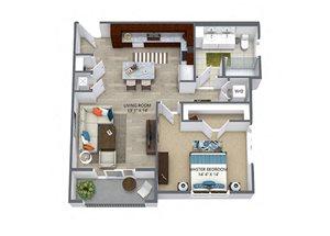 Westwood Green 1 bed 1 bath 767 sqft