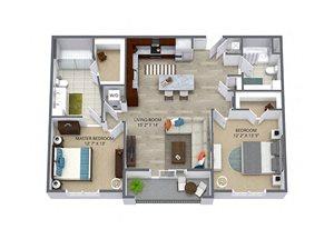 Westwood Green 2 bed 2 bath 1057 sqft