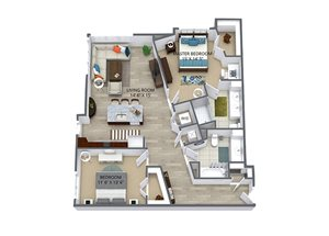 Westwood Green 2 bed 2 bath 1120 sqft