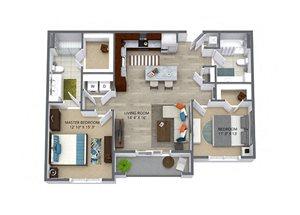 Westwood Green 2 bed 2 bath 1075 sqft