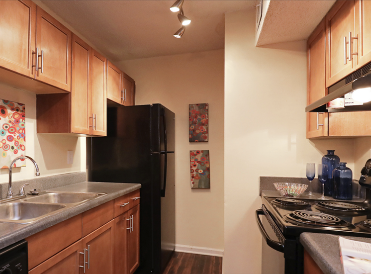 large kitchen with efficient appliance package
