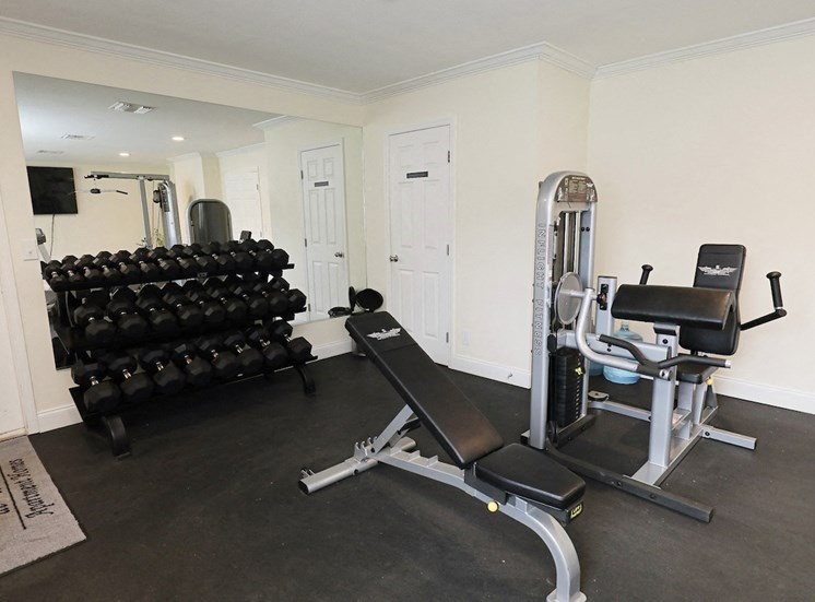fitness center with strength equipment