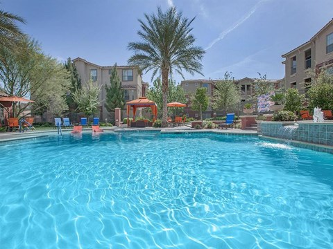 Sonata Blue Cool Swimming Pool in North Las Vegas, Nevada Apartment Rentals