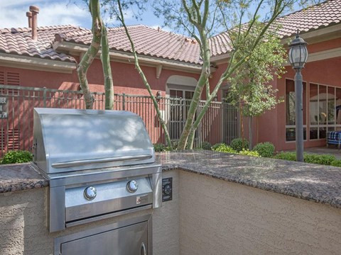 Outdoor Sonata Grill Area in Nevada Rental Homes