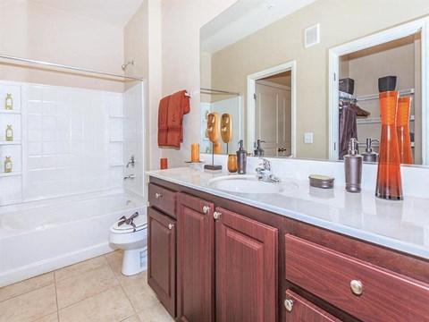 Large Soaking Tub In Sonata Bathroom in Nevada Rentals
