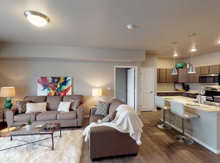 image of kitchen & living room