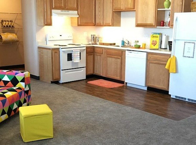 spacious kitchen and efficient appliance package