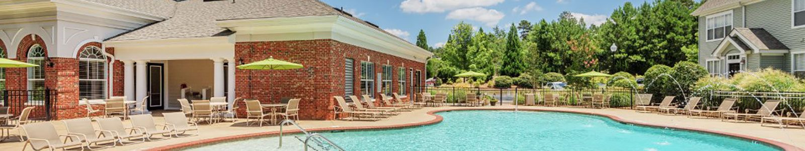Poolside Sundeck With Relaxing Chairs at Millennium, Greenville, SC, 29607