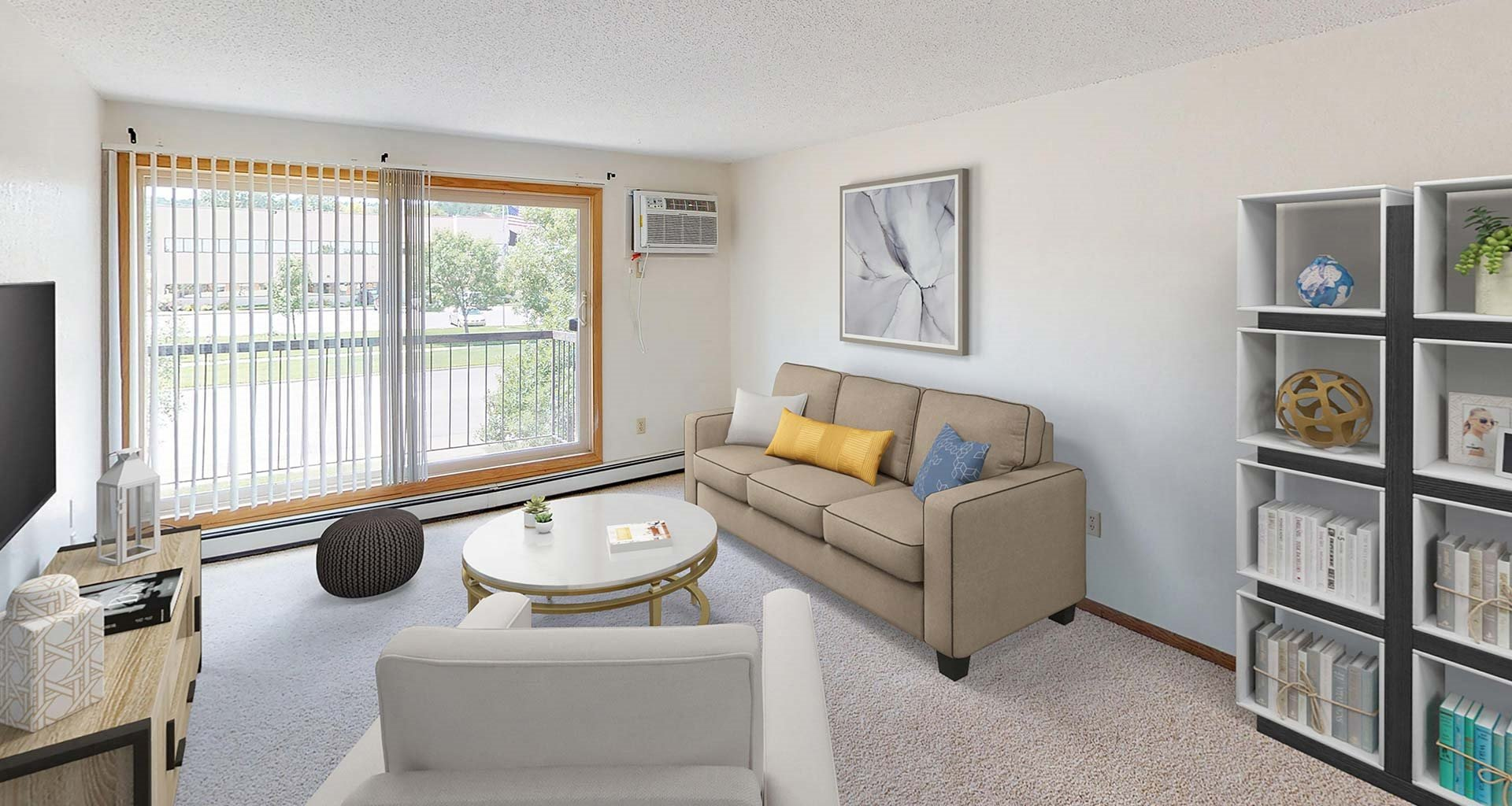 Country Bluff Apartments - Living Room