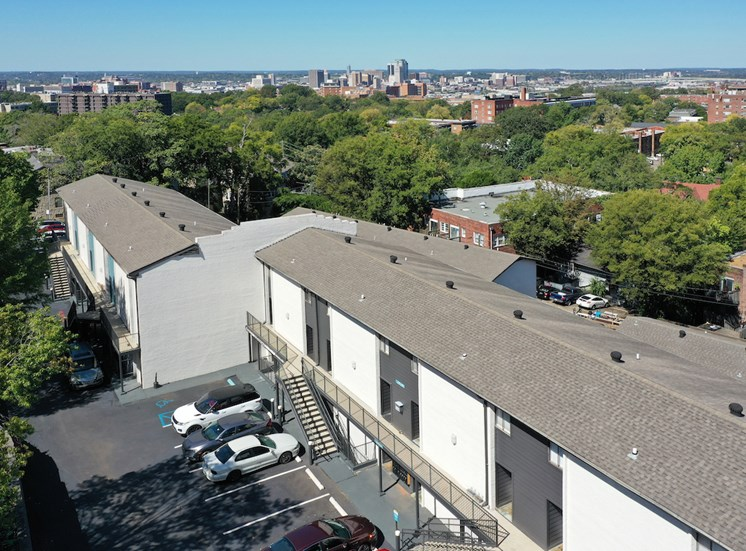 View of City above Nova Highland Park's Roofs