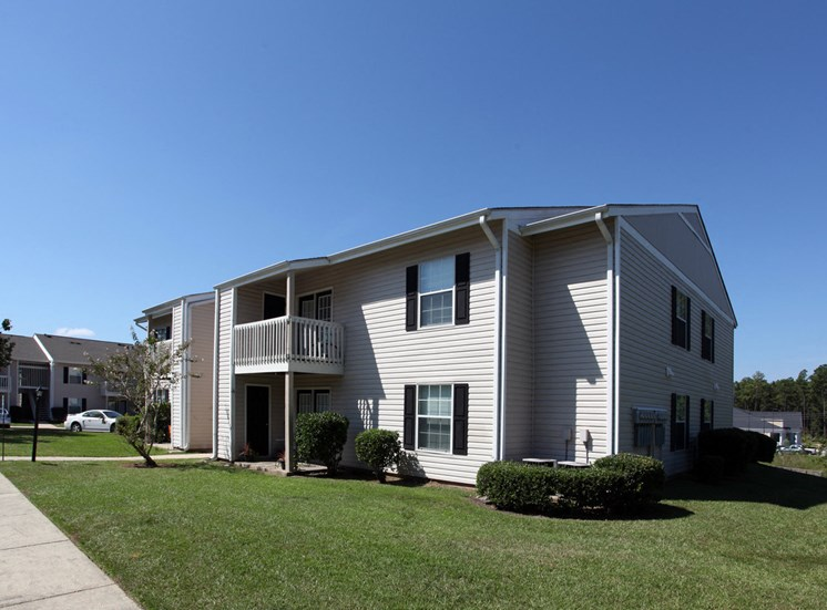 autumn chase apartment building with private deck or patio