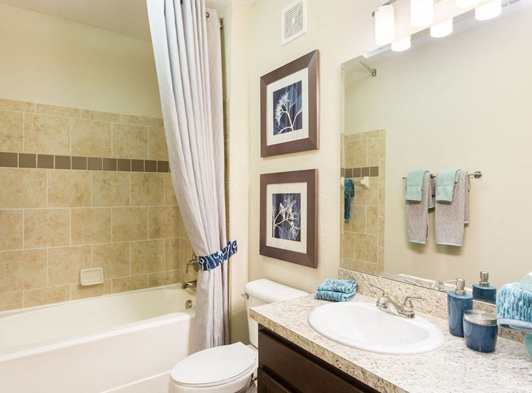 bathroom with vikrel tub and 7ft shower heads