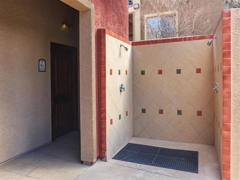Modern Montecito Pointe Stand Up Shower in Las Vegas Apartment Rentals for Rent