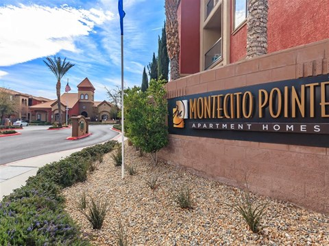 Welcoming Montecito Pointe Property Signage in Las Vegas Apartment Rentals for Rent