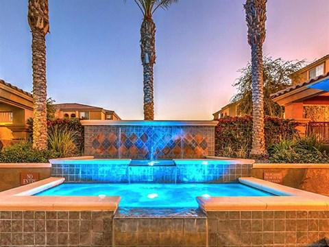 Montecito Pointe Courtyards With Trickling Fountains in Las Vegas, Nevada Apartment Rentals